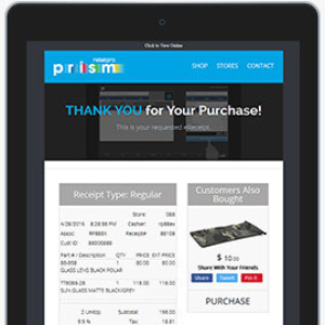 Digital Receipt with Upsell